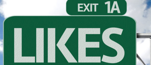 road sign for facebook likes