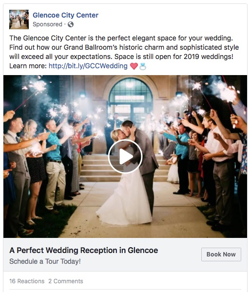 Glencoe City Center wedding venue