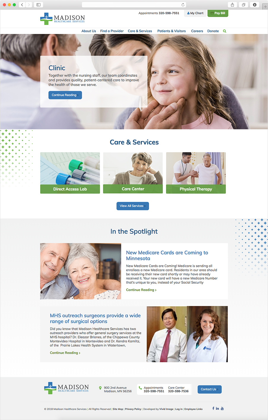 Madison Healthcare homepage